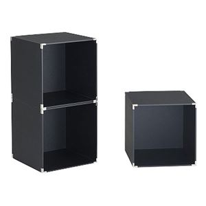 キューブボックス/カラーボックス 【ブラック 3個入り】 正方形 幅30×奥行30×高さ30cm