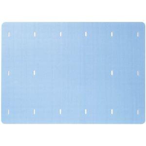 ジャンボサイズ お風呂マット/浴室マット 【Wサイズ ブルー】 120×85×厚さ2cm 二つ折り可