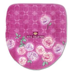バラ柄 フタカバー/便座カバー 【ピンク ドレニモ】 普通型、洗浄・暖房型対応可 日本製 『ロイヤルコレクションチェルシー』