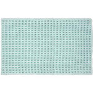 オカトー 抗菌ワッフルバスマット ブルー 50×80cm (足ふきマット)