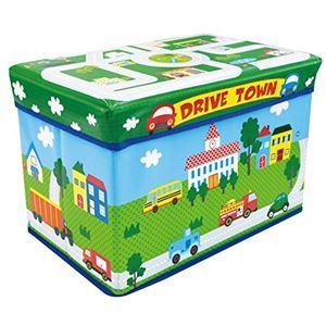 遊べるストレージボックス ドライブタウン (子供用 おもちゃ 収納ボックス)