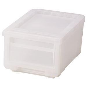 収納ボックス/衣類収納 【クリア】 幅30cm 日本製 プラスチック フタ付き 『天馬 カバコ プロフィックス カバゾコ』