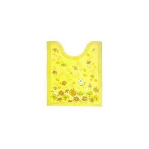 花柄 トイレマット 【イエロー】 約55×60cm アクリル 防滑加工 『オカ デイジーモチーフ デイジーマルシェ』