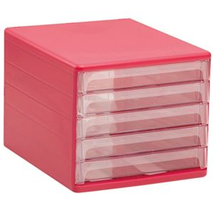 レターケースカラー5段 P(ピンク) 28×34.4×24.6cm
