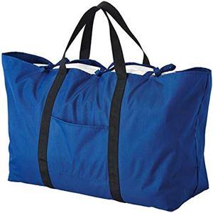 布団も入る大きなトートバッグ 【ネイビー】 大容量 容量約105L はっ水加工 折りたたみ可 〔引っ越し コインランドリー 入院〕