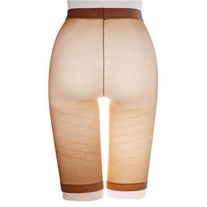 太ももにすき間 極薄ねじりガードル/下着 【ベージュ M-L ヒップサイズ87〜100cm】 アウターにひびきにくい 日本製