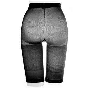 太ももにすき間 極薄ねじりガードル/下着 【ブラック L-LL ヒップサイズ92〜105cm】 アウターにひびきにくい 日本製