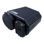 NEWING/ニューイング バイク用電源 シガーソケット+USB端子タイプ NS-003