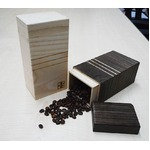 桐たんす屋さんが作るコーヒー豆入れ200gサイズ 日本製 泉州留河 無地
