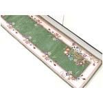 ゴブラン織り キッチンマット フラワースイート 47×240 グリーン