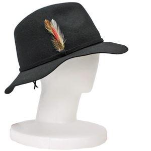 SCALA 中折れ フェルト ハット レディース HAT Black(黒) フリーサイズ