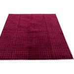 7色から選べる キルティングラグ 185×185 ワイン ラグ 敷布団 ホットカーペット対応 洗える シンプル キルト 縁チェック柄 エース掛け