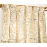 遮光カーテン/サンシェード 2枚組 【100cm×178cm ベージュ】 花柄 洗える タッセル付き アジャスターフック付き 『エマリー』