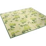 い草ラグ 176×261 江戸間3畳 グリーン リーフ柄 ラグマット リップ
