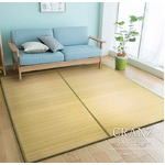 竹ラグ 180×240 ナチュラル 2つ折りタイプ ラグマット クランツ
