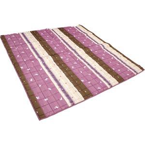 こたつ こたつ敷き こたつ布団 正方形 落ち着いた和風デザイン 和ごころ敷き 幅200x奥行200cm パープル