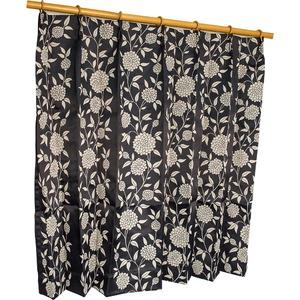 カーテン 洗える ウォッシャブル 洗える 防炎 2級遮光 150×丈178cm ブラック ダリア