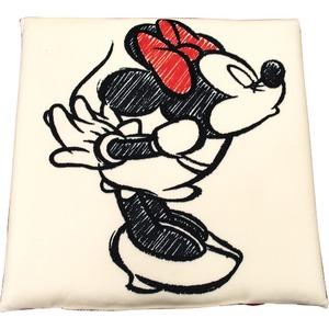 ディズニー ミニー クッション 40×40cm アイボリー ミニー手描き風 キス柄
