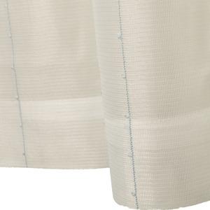 刺繍 レースカーテン ライン柄 幅150×丈223cm 1枚入 ブルー ピコン