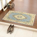 玄関マット 室内 プリント 60×90cm ブルー ソロモン