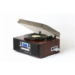 とうしょう ピアノ調仕上げダブルCDマルチプレーヤー ピアノブラウン TS-7885PBR