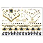 タトゥーシール/フェイクタトゥー 【VERONICA】 水だけで貼れる 『jewel tattoos』 〔コスプレ 仮装 イベント〕