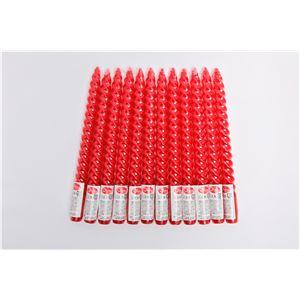 10インチスパイラルキャンドル シュリンク【12本セット】赤