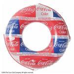 浮き輪 【100cm】 コカ・コーラ パターン柄 塩化ビニール樹脂製 〔プール ビーチ 海外旅行〕