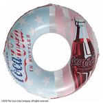 浮き輪 【120cm】 コカ・コーラ フラッグ柄 塩化ビニール樹脂製 〔プール ビーチ 海外旅行〕