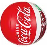 ビーチボール 【50cm】 コカ・コーラ コンツアーボトル柄 塩化ビニール樹脂製 〔プール ビーチ 海外旅行〕