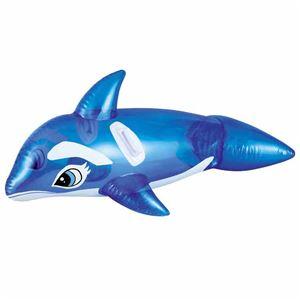 フロートマット/浮き輪 【ブルーシャッチー型】 150cm×64cm 重さ800g 〔プール ビーチ 海外旅行〕