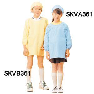 学童給食衣割烹着型ブルー 6号 SKVA361