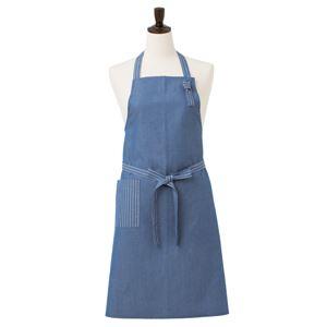 胸当てダンガリーエプロン ブルー 綿100% KMA2700-2