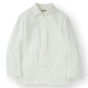 男性コックジャケットカツラギ ホワイト LLサイズ KMJ2780-1