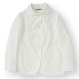 女性コックジャケットツイル ホワイト Sサイズ KMJ2771-1