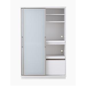 【開梱設置費込】食器棚 ACシリーズ 122cm幅 目隠し収納 キッチンボード ホワイトボード 【日本製】