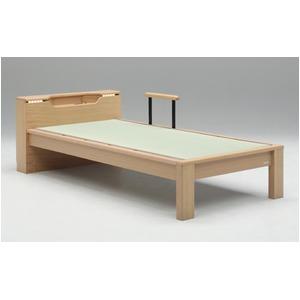畳ベッド【フレームのみ】【スミカ】 (セミダブル・ナチュラル・キャビネットタイプ) グランツ GLANZ