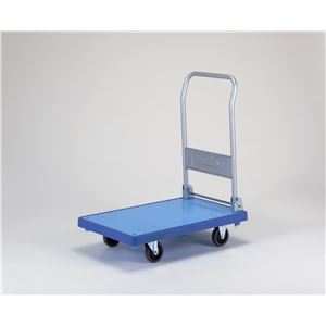 バンパーキャリー(小) 折りたたみ式 4インチ エラストマー車 自在×2 固定×2 ブルー