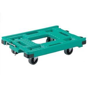 RSキャリー56・37 3インチ エラストマー車 自在×2 固定×2 グリーン
