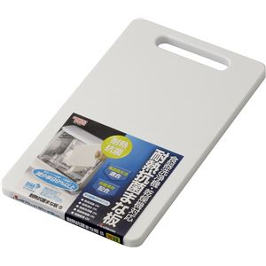 【50セット】リス HOME&HOME 耐熱抗菌まな板S ホワイト