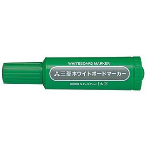 (業務用2セット) 三菱鉛筆 ホワイトボードマーカー PWB7M6 太 緑 10本