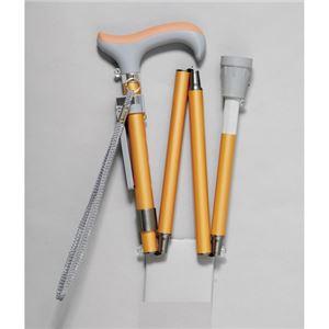 ピップ グランマおりたたみ4段階伸縮式杖オレンジ
