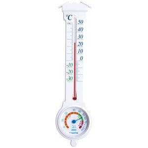 佐藤計量器 温湿度計 ミルノEXホワイト 1031-00 10個