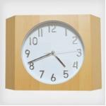 壁掛け時計/ウォールクロック 【Teton ビーチ】 木製×ガラス 文字盤:数字 CCL-5407-BC