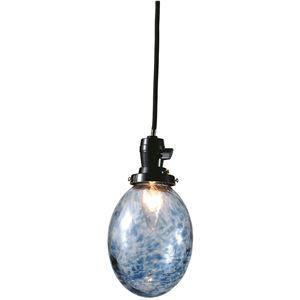 たまごあわランプ/ペンダントライト 【ブルー】 直径13×高さ16cm ガラス 〔インテリア照明器具〕