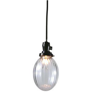 たまごモールランプ/ペンダントライト 【クリアー】 直径13×高さ16cm ガラス 〔インテリア照明器具〕