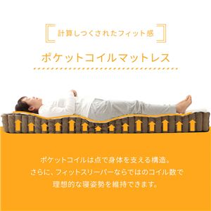 ボンネルコイルマットレス セミシングル SS  両面仕様 『 フィットスリーパー -理想的な寝姿勢をサポート-』 アイボリー 【1年保証】