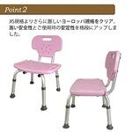シャワーチェア Yurax Chair オリジナル 座面高 3段階 背もたれ着脱可 幅42cm*奥行き42cm*高さ60-70cm ブルー
