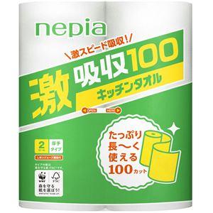 王子ネピア ネピア激吸収キッチンタオル2ロール2枚重ね100カット × 5 点セット