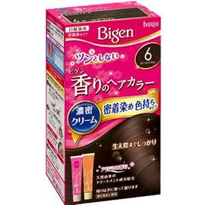 (まとめ)ホーユー ビゲン 香りのヘアカラー クリーム 6 ダークブラウン 【×3点セット】